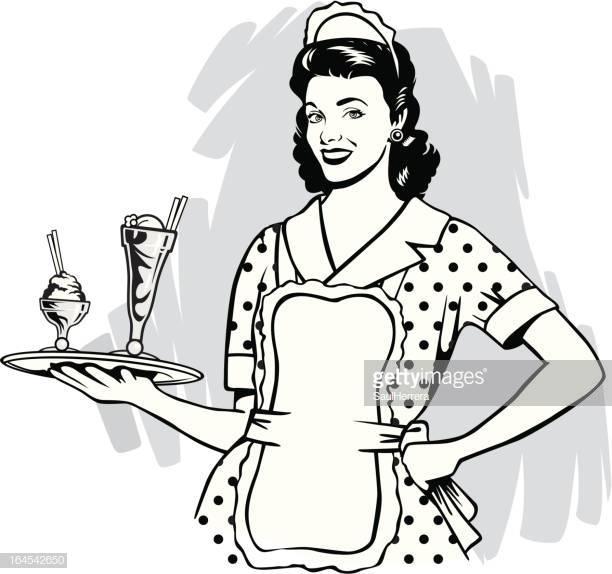 60 Top Waitress Stock Illustrations, Clip art, Cartoons, & Icons.