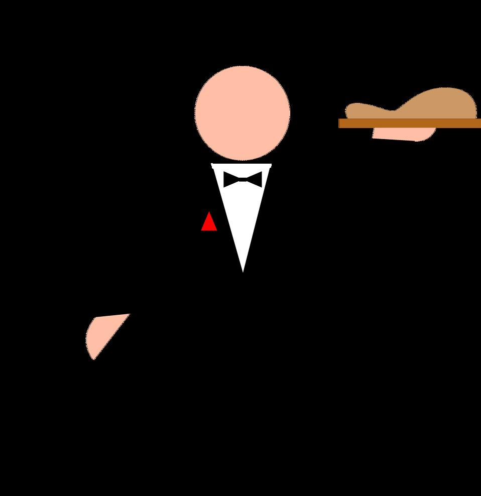 waitress holding food tray clipart - Clipground