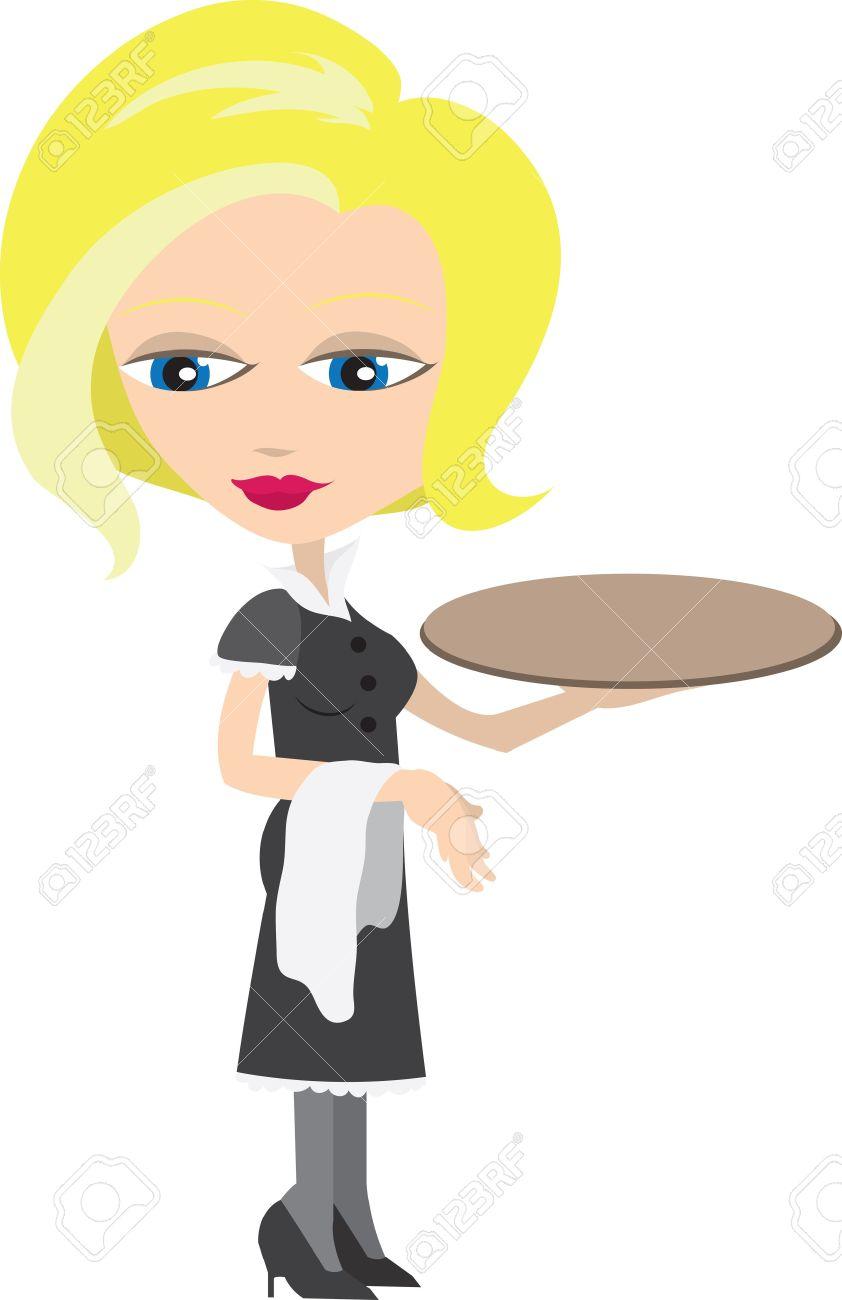 Showing post & media for Cartoon food waitress.