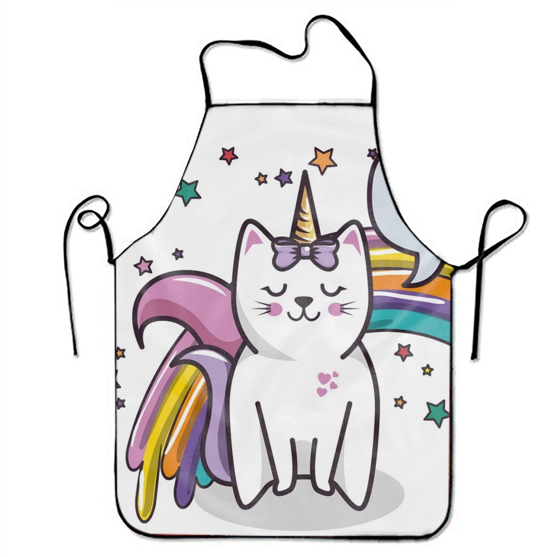 Amazon.com: FnLiu Cute Cat Unicorn Aprons Waitress Aprons.