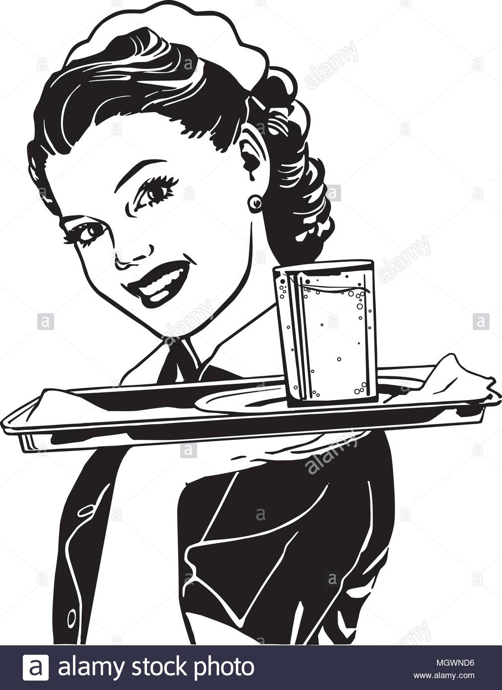 Waitress With Tray.