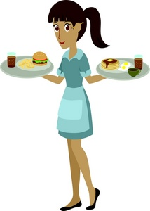 Waitress Taking an Order.