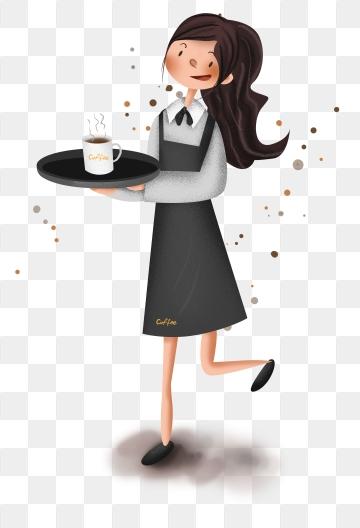 Waitress PNG Images.