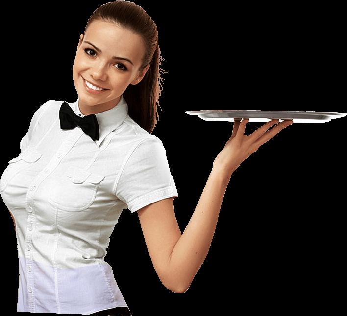 Waitress PNG Image.