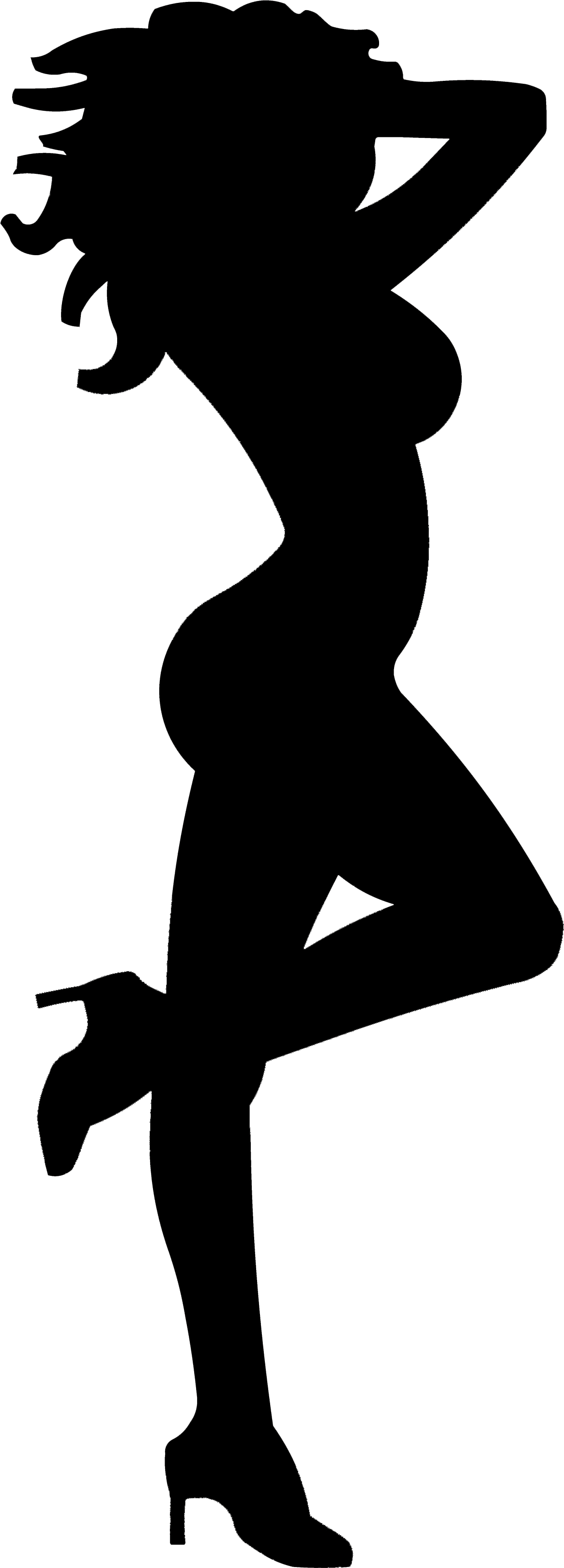 Waitress clipart silhouette, Waitress silhouette Transparent.