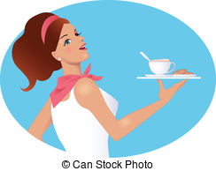 Waitress Stock Illustrations. 3,342 Waitress clip art images and.
