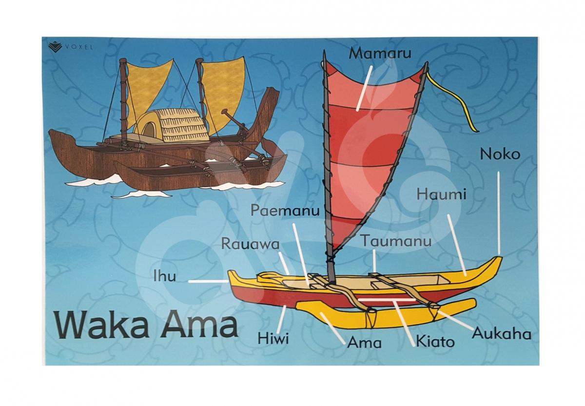 Waka Ama A2 Poster.