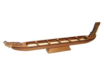 Maori War Canoe Wooden Model.
