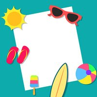 Summer Vacations Concept Background stock vectors.