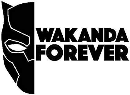 CCI Wakanda Forever Black Panther Decal Vinyl Sticker.