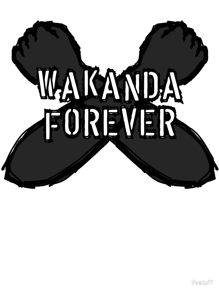 Wakanda Forever Fist Sketch Designs.
