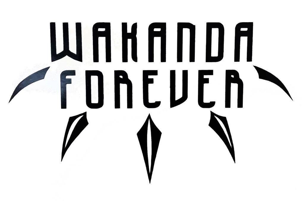 CCI Wakanda Forever Black Panther Decal Vinyl Sticker.