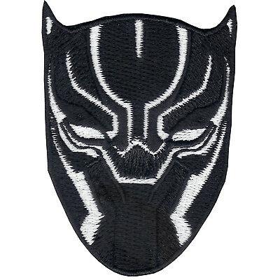 Marvel Avenger BLACK PANTHER White Mask Iron On logo Patch Wakanda Okoye  DVD.