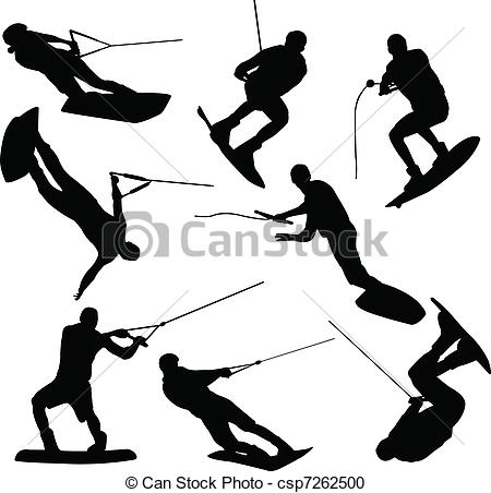 Wake board Clip Art Vector Graphics. 305 Wake board EPS clipart.