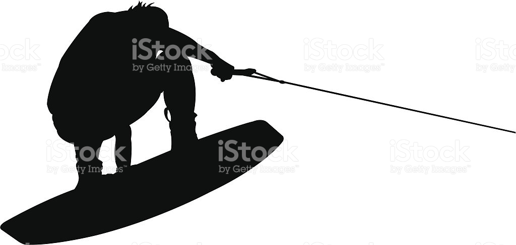 Water splashing wakeboard clipart.