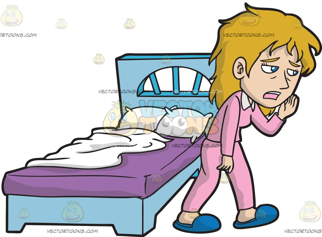 Girl Getting Out Of Bed Clipart.