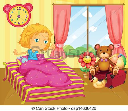 Images: Girl Wake Up Clipart.