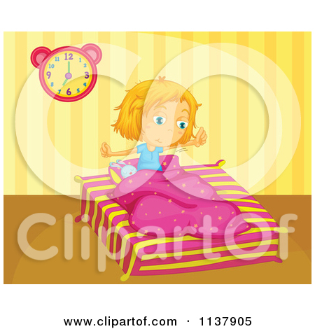 Wake Up Girl Clipart.