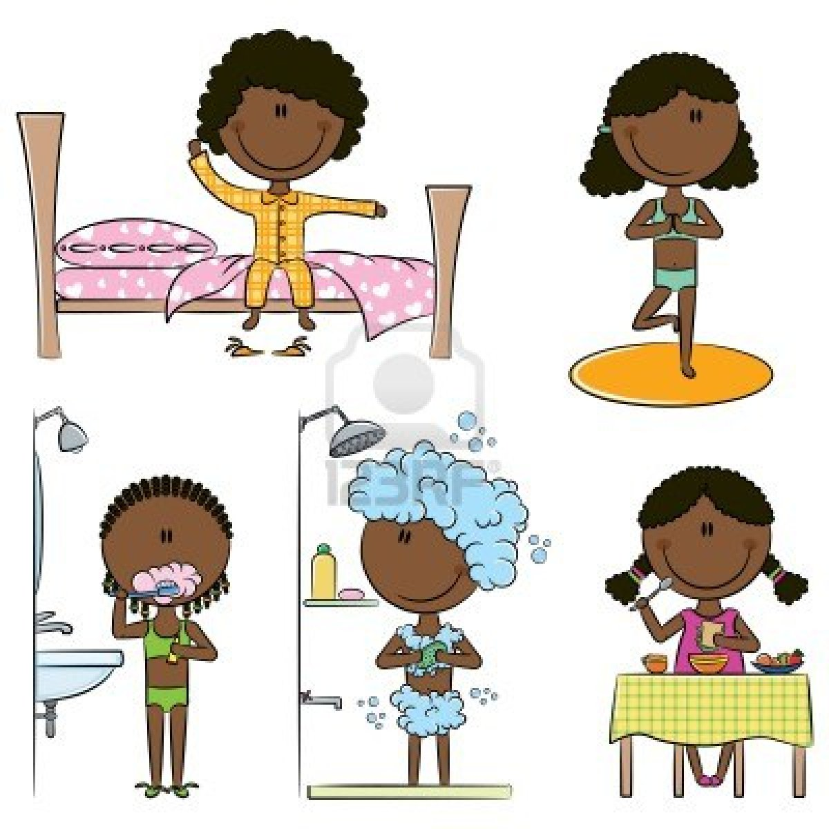 Girl Waking Up Clipart & Girl Waking Up Clip Art Images.