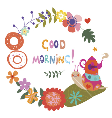 Cute Good Morning Clipart.