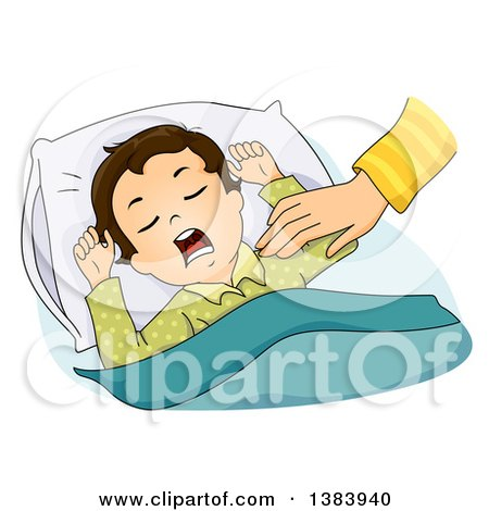 Clipart Boy Waking In The Morning.