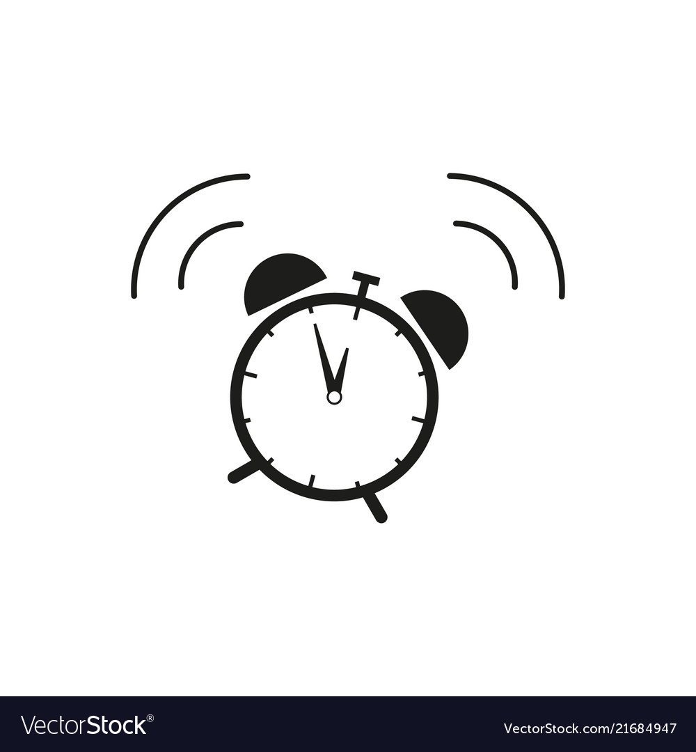 Alarm clock icon wake up of time.