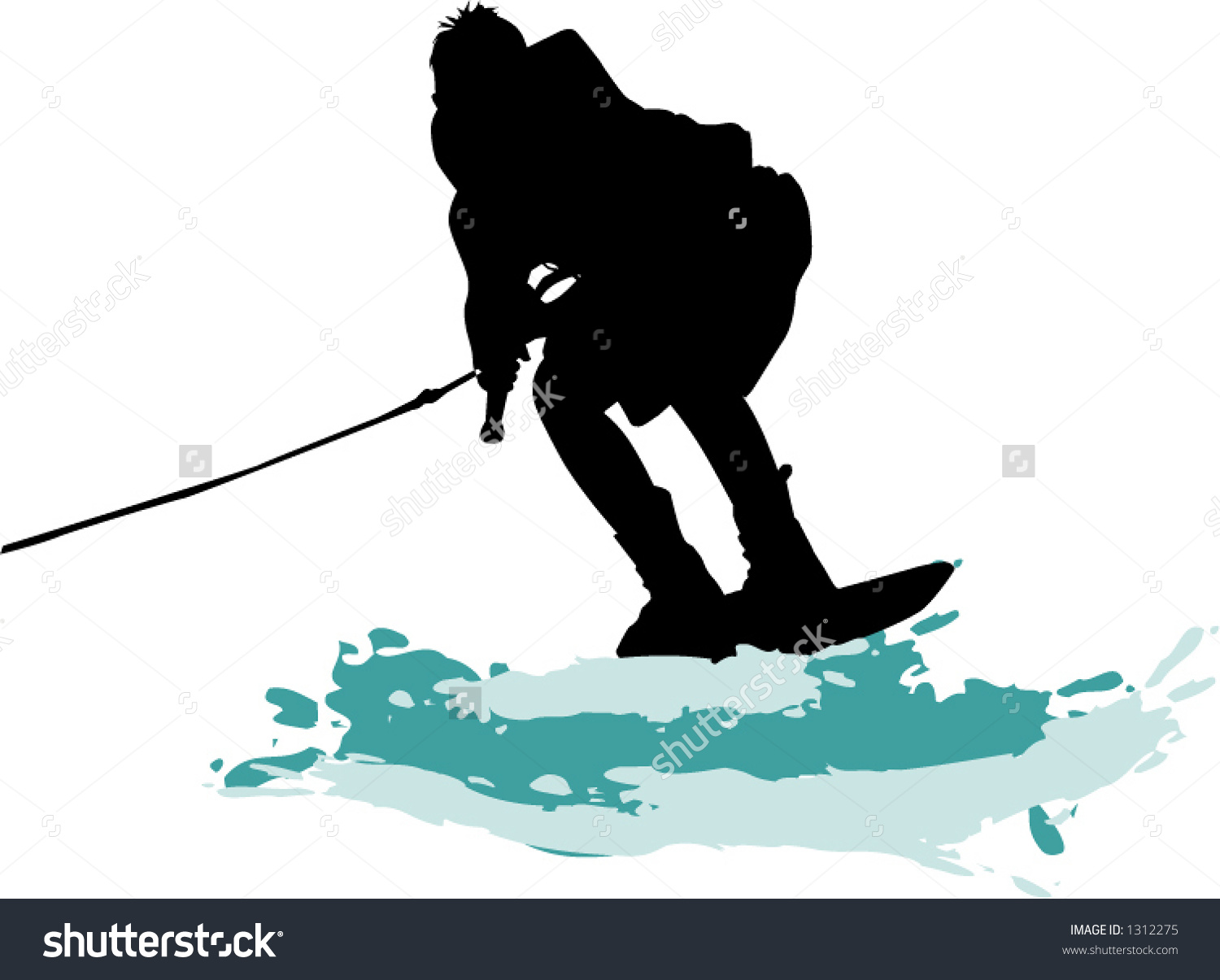 Wakeboard Stock Vector Illustration 1312275 : Shutterstock.