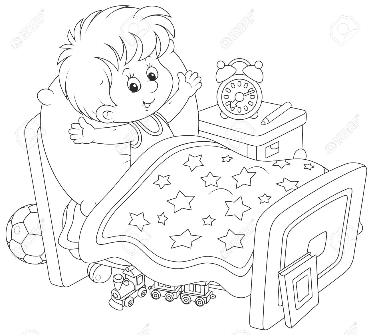 Wake Up Clipart Black And White.