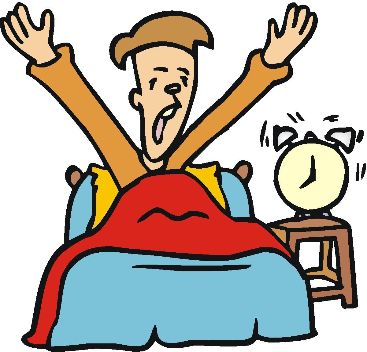 Waking Up In Bed Clipart pertaining to Boy Getting Out Of.