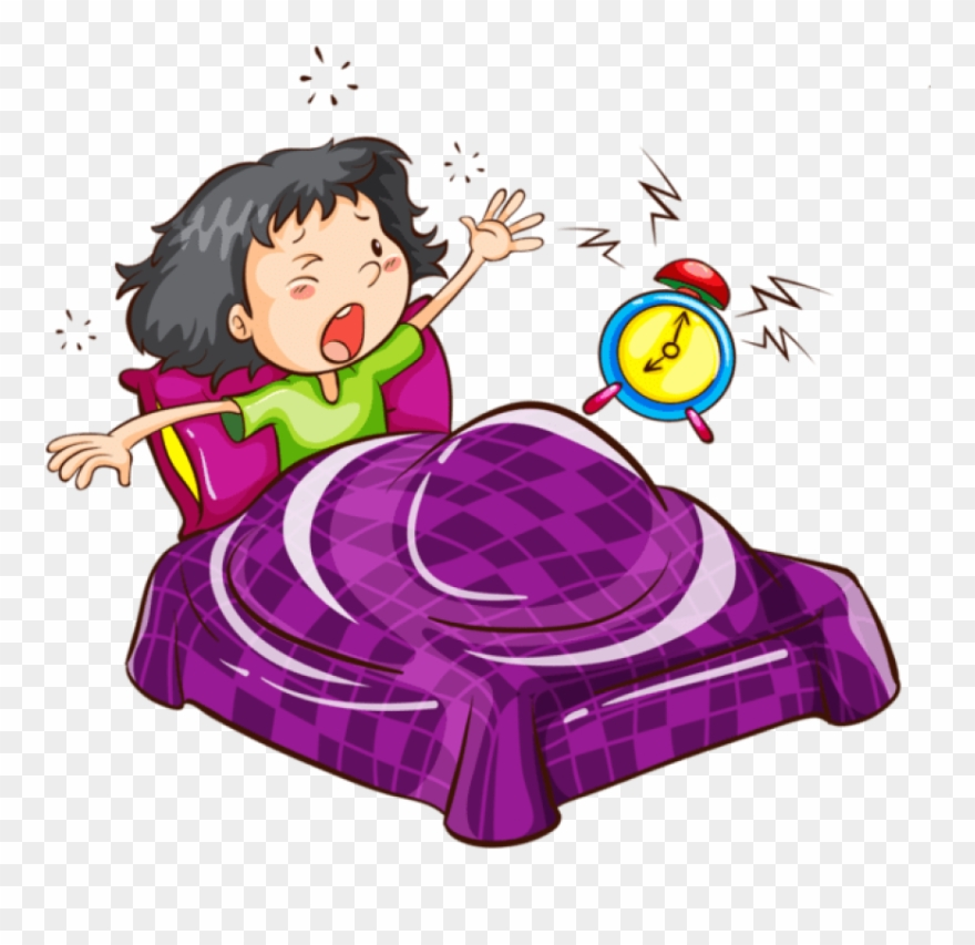 Free Png Download Cartoon Images Waking Up With Alarm.