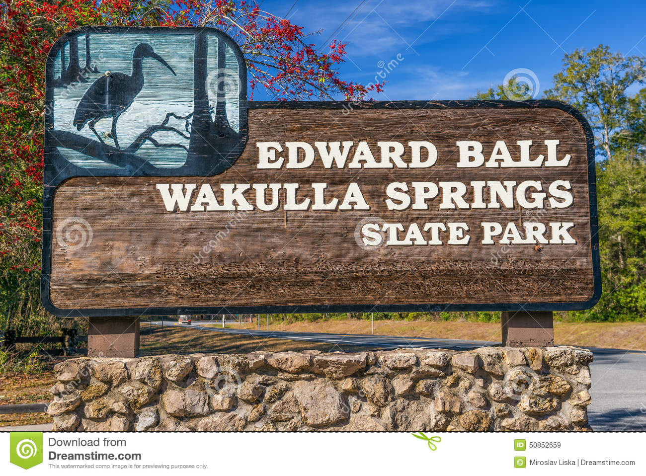 Edward Ball Wakulla Springs State Park Entrance Sign, Florida.