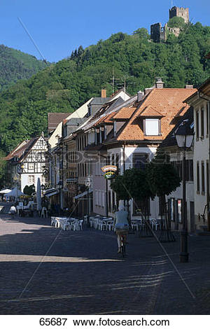 Picture of Houses in town, Kastelberg, Waldkirch, Black Forest.