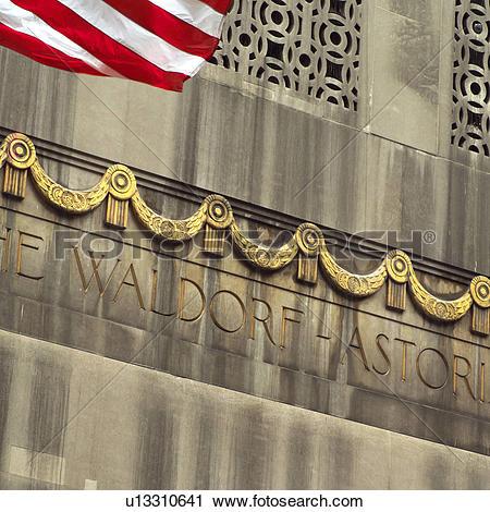 Stock Photography of Waldorf Astoria, New York City u13310641.