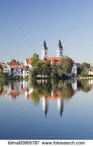 "Picture of ""Church of St Peter on lake Stadtsee, Bad Waldsee."