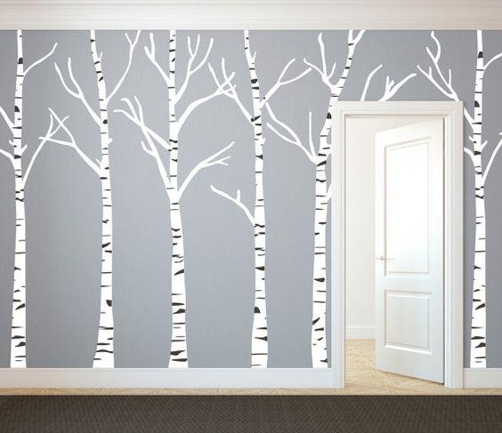 Tree silhouette, Vinyl art and Birches on Pinterest.