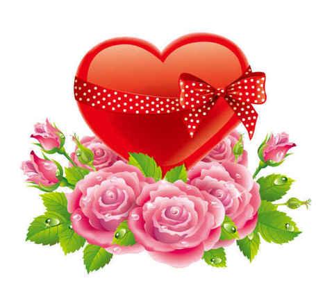 Walentynki miłość Rose tło Clipart Picture Free Download.