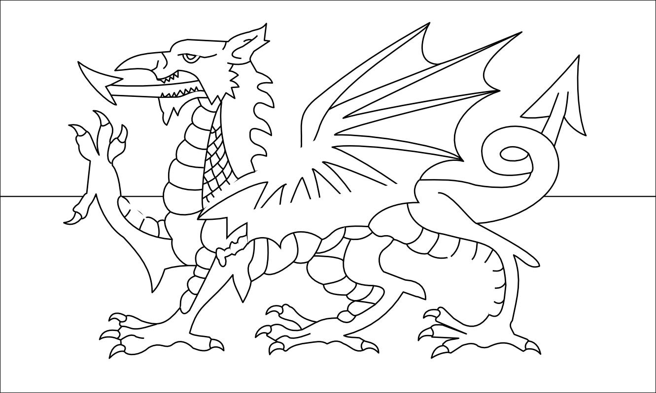 Welsh Flag Clipart.