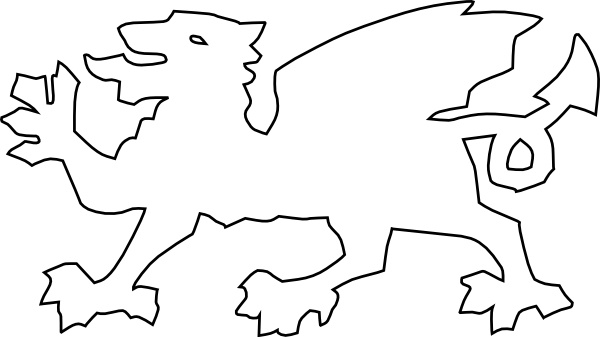 Welsh Dragon Clipart Black And White.