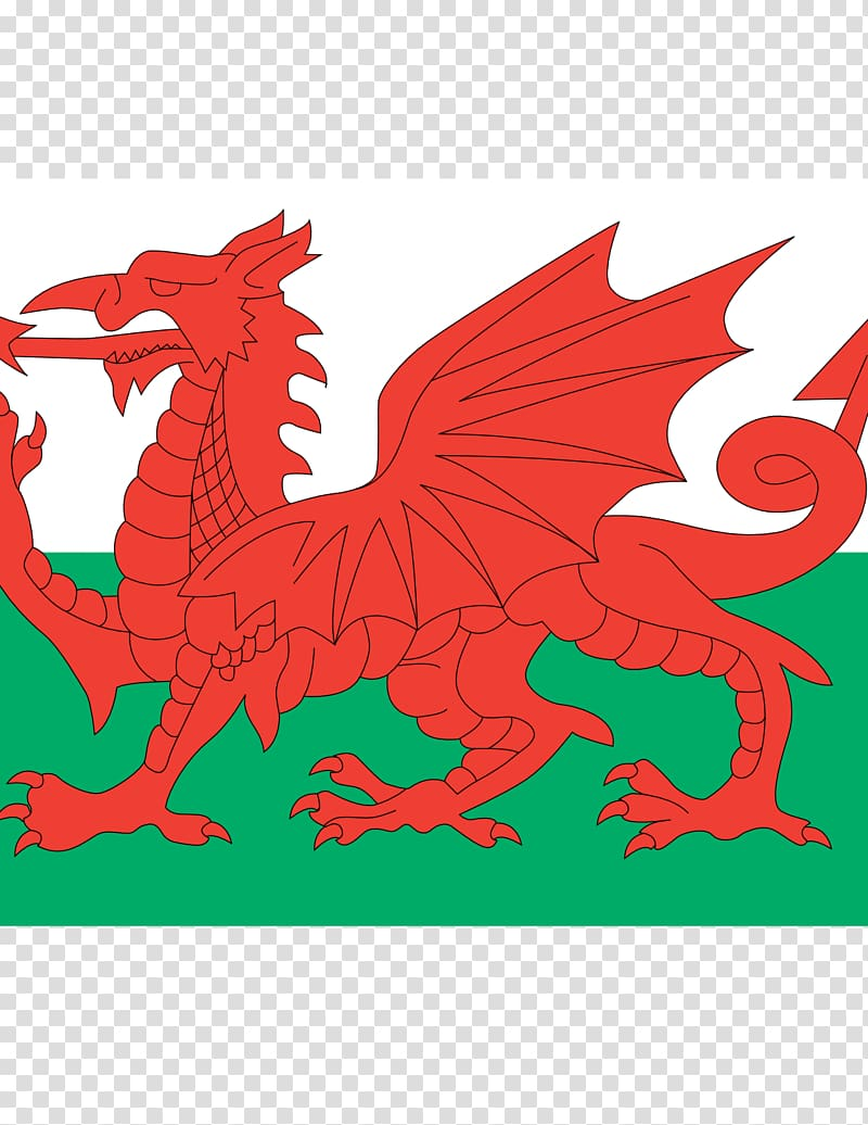 Flag of Wales Principality of Wales Welsh Dragon, Flag.