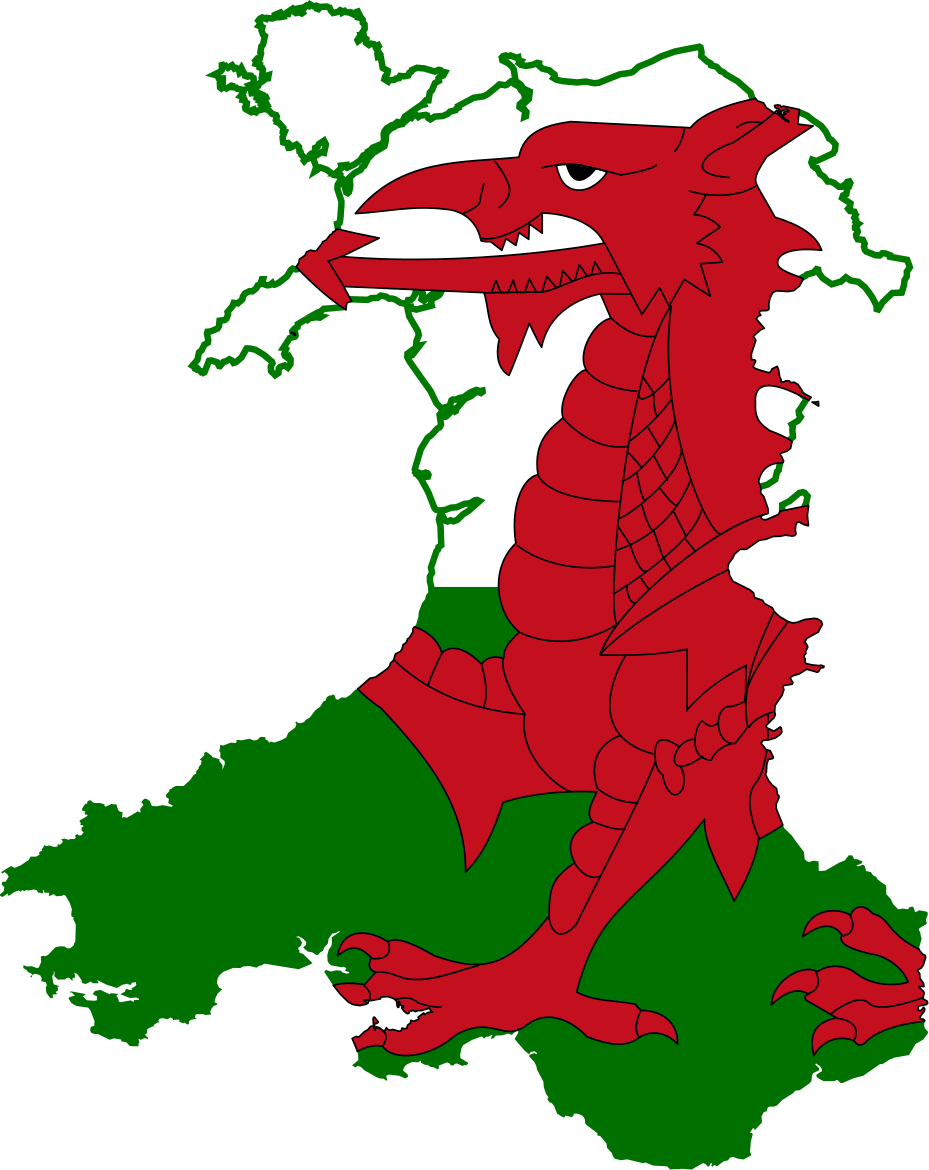 File:Flag map of Wales.svg.