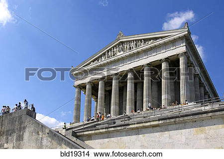 Stock Photo of the Walhalla temple, Bavaria, Germany bld19314.