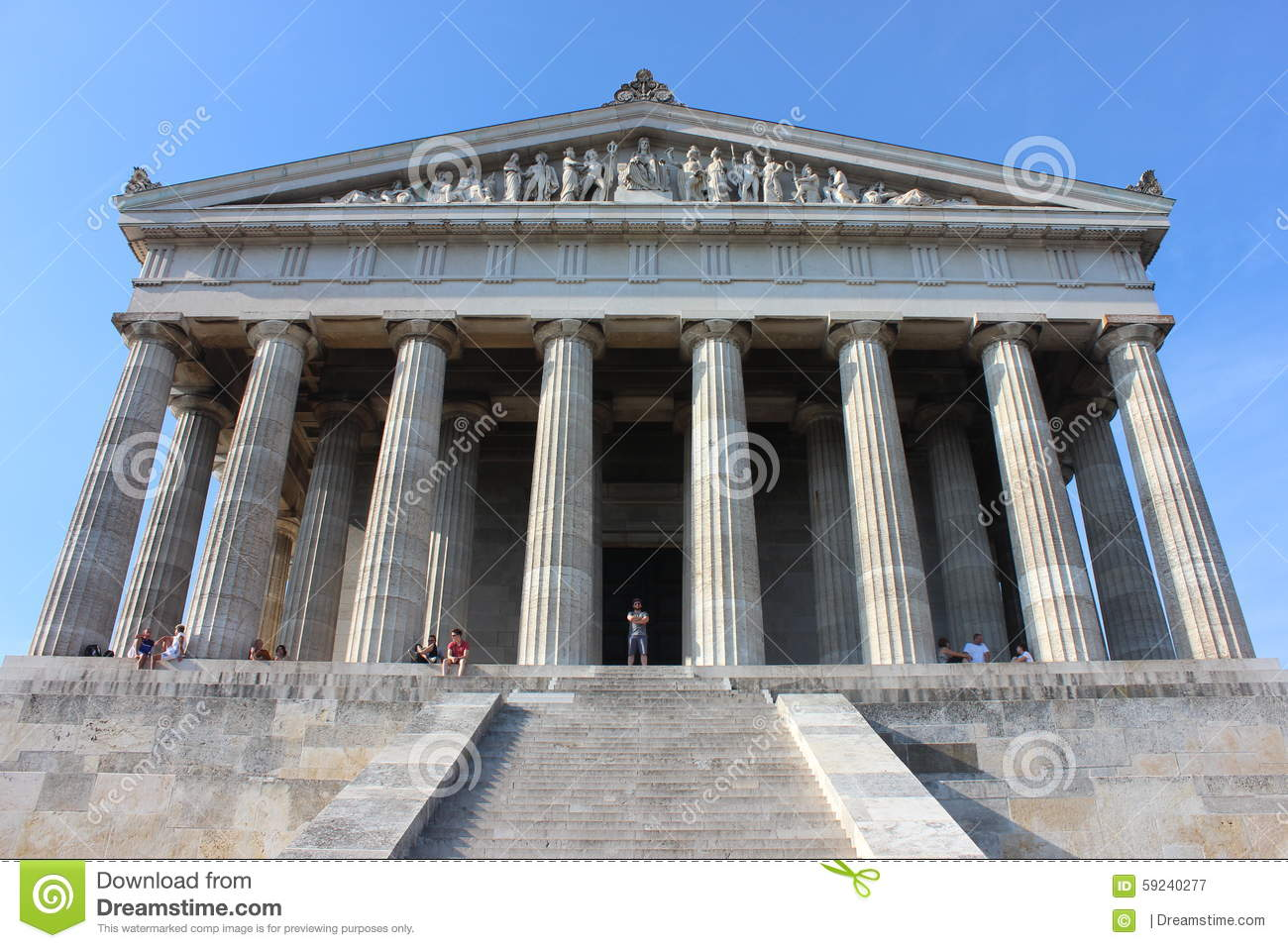 Walhalla Memorial Exterior Editorial Photography.