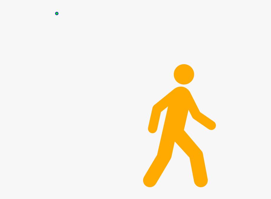 Yellow Walking Man Clip Art.