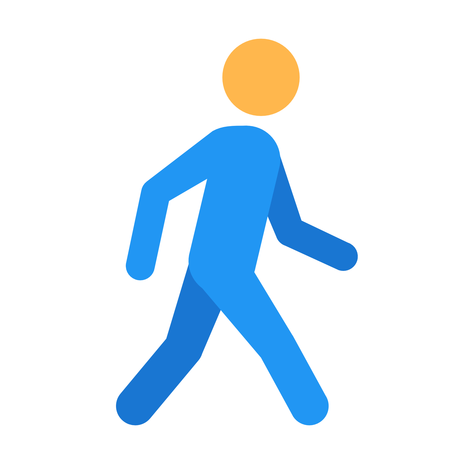 Walking Computer Icons Clip art.