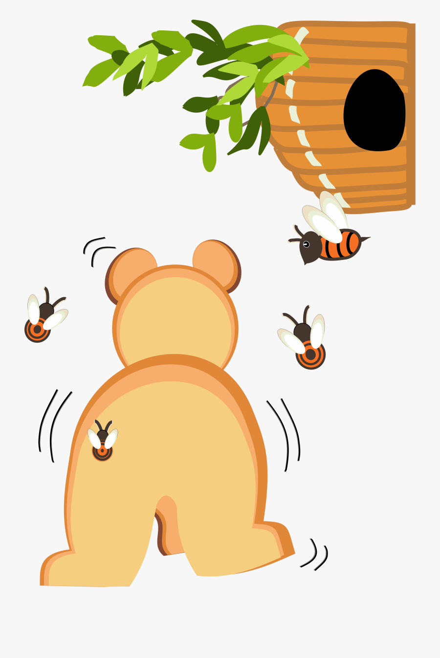 Cartoon Bear Walking Away , Free Transparent Clipart.