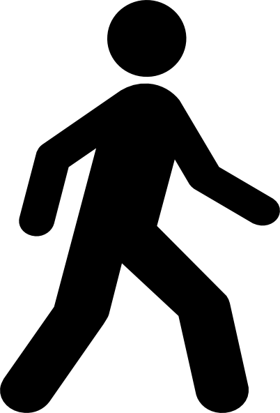 Clip Art Walking Up Here Clipart.