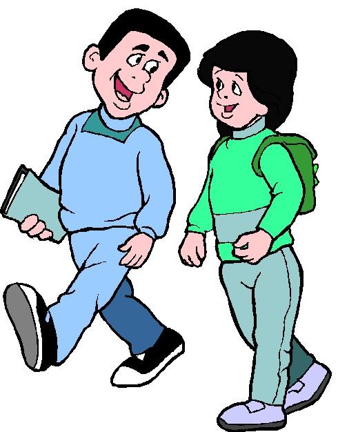Student Walk Clipart.