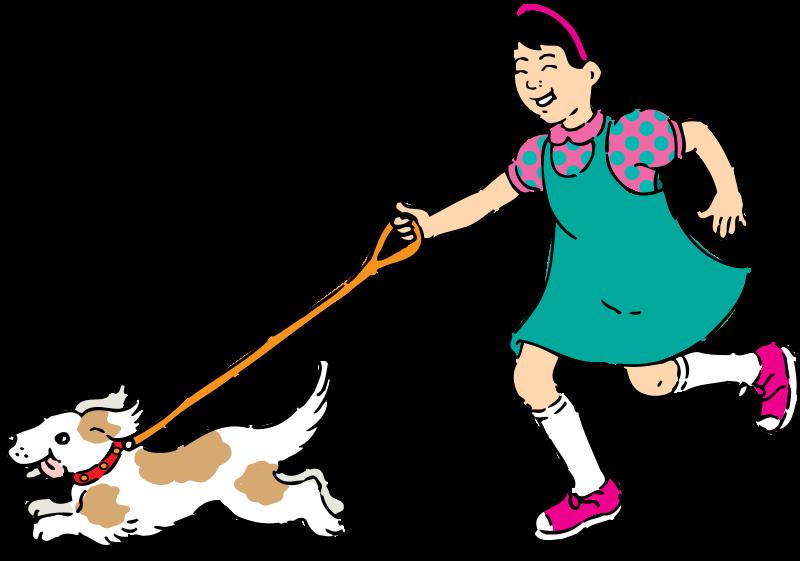 Free Clipart: Walking dog.