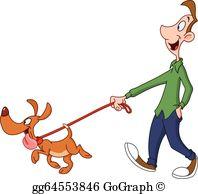 Dog Walking Clip Art.