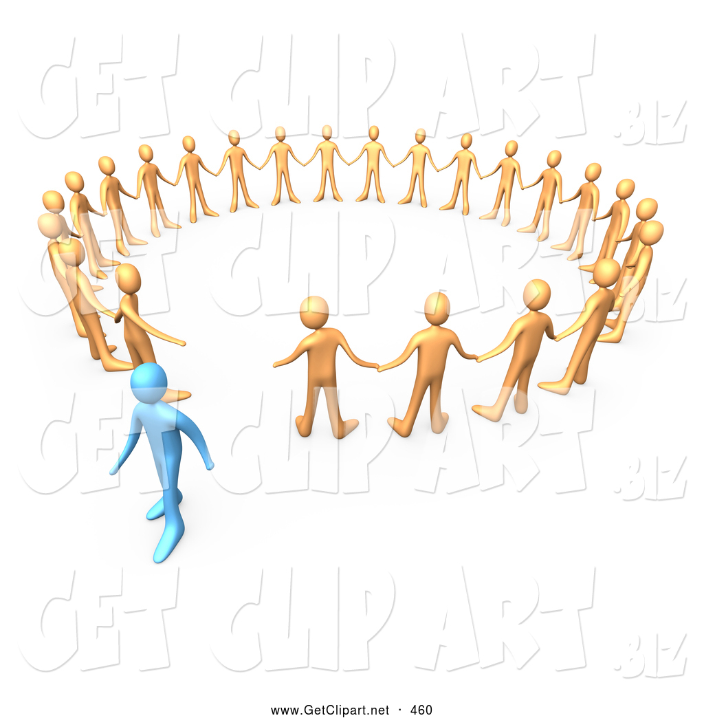 People Walking Away From Each Other Clipart.